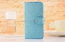 Full Diamond shaped plastic bead wholesale flip phone case for iphone 5/5s