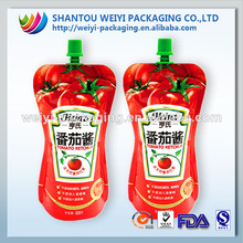Wholesale food grade logo printed stand up spout pouch /packaging