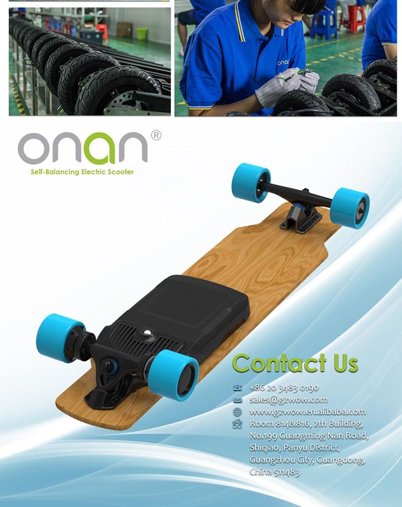 Cruiser elétrica Impulsionada Skate De Bambu