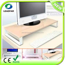 Simple design practical detachable MDF desktop computer shelf