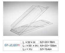 Clam shell box, transparent blister box EP-jzj2011 for packed fishing hook or beads