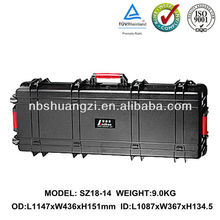 High impact ABS plastic equipment tool case for gun with foam and wheels