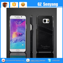 New Arrival for Samsung Galaxy Note 5 Genuine Leather Back Phone Cover Case with Card Holder