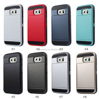 Credit card armor phone case for galaxy s6