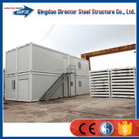 Prefabricated container hotel room design
