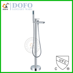 cUPC Free standing Bath Faucet with Tub Filler and Hand Shower