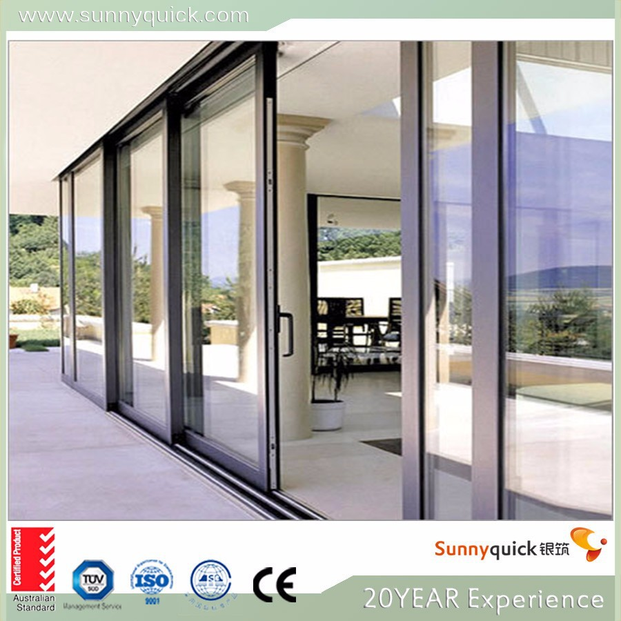 Low price aluminum sliding glass door used sliding glass for Aluminum sliding glass doors price