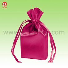 Custom-Made Red Promotional Gift Satin Bag for Jewellery