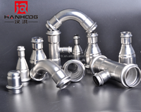 High quality level stainless steel gas air instrumentation press tube fitting