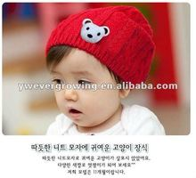 kids knitted hat with animal pattern,acrylic,beanie