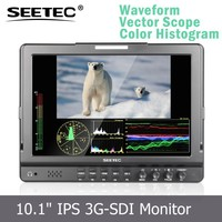 Dual 3G-SDI high resolution 1280x800 Seamless Switch 10.1'' IPS panel HDMI Ypbpr inputs Fully Featured on camera field monitor