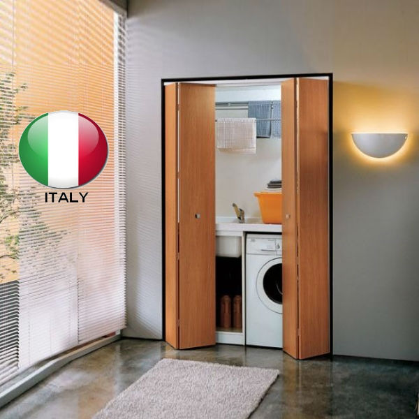 Puerta plegable de madera de estiloitaliano puertas - Puerta plegable madera ...
