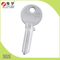 CS206 Brass Door Key Blank with Customized Logo to Open Cylinder Lock Supplier by China Key Blank Manufacture