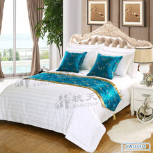 elegant chinese silk bed runners /custom table runners with pendant / ethnic touch body cushion cover