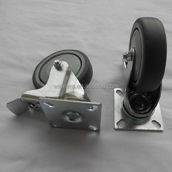 swivel Furniture pvc pipe caster wheel