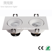 COB dual-head ceiling light led venture lamp downlight 2*7W high power CREE COB