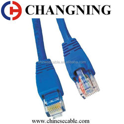 Widely Used 4 Pairs PVC Jacket Cat6 Patch Cable With Nylon Rid Cord