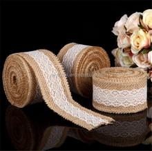 5 Rolls 2MX5CM Burlap Wreath Ribbon Lace Craft Gift Wrap Home Wedding Decor