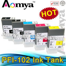 Hot Sell for Canon IPF 650/750 pfi 102 refill ink cartridge