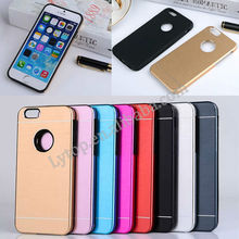 Gold Supplier High Quality Hard Metal Case for iPhone 6 with Logo Hole
