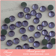 Low defective rate color rhinestone flat glass beads