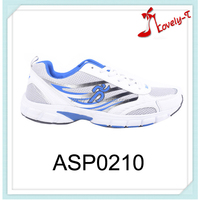Mesh upper material breathable sport shoes men lace up comfort shoes