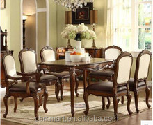 Dining table set wood european design material living room set furniture