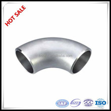 Lowest price stainless steel ss304 316L seamless 45 degree 90 degree pipe elbow dimensions
