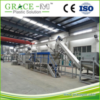 CHINESE TOP BRAND PET Bottle Crushing Washing Drying Recycling Line