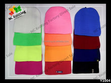 BRAND NEW STYLE 100% ACRYLIC WINTER HAT KNITTED CAP COLORFUL BEANIES LOW WAVE FASHION ACCESSORY UNISEX COSTOM
