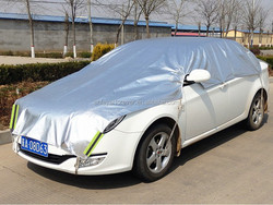 snow proof silver color aluminium foil car cover