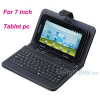 """Universal USB Keyboard Leather Cover Case Bag for 7"""" Tablet PC MID PDA VIA 8650"""