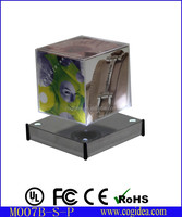magnetic floating cube photo frame rotating picture frame acrylic photo frame