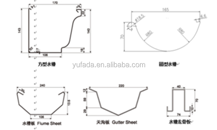 Yufa Metal Roofing Water Gutter Making Machine Buy Used