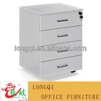 hot sale good quality fashion office table 4 drawer sliding side cabinet under desk file cabinet