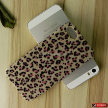 jaguar fur alike horse fur pc cover shell phone accessories for iphone 5/5S samsung