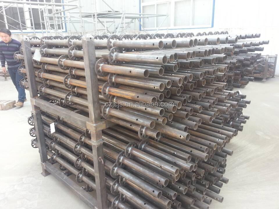 Universal Base Jack : Electro plated hollow type scaffolding ring lock shoring