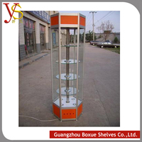 New Design Products Wood and Glass Store Mobile Phone Display Showcase