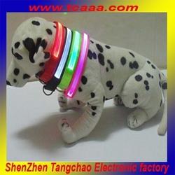 Newest fashion Nylon Pet Collar Flashing Dog Cat for Safety