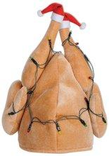Plush Light Up Christmas Turkey Hat New Product Santa Clause Hat