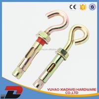 carbon steel or Dacromet flange/hexagon nut sleeve anchor with bolt nut carbon steel sleeve anchor with hook