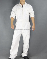 high qualtiy coverall with cheap price for working ,white coverall suit with velcro, long sleeve prime captain coverall