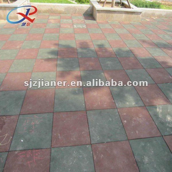 Lastra in gomma tipo piastrelle di ceramica per patio - Piastrelle di gomma ...