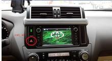 8'' car DVD player for TOYOTA PRADO LC1502014 TV 3G Radio WiFi Bluetooth Wheel Control IR AVI AUX Free GPS Map card Free duty