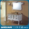 Solid Wood Floor Mounted Vanity Marble Top Wood Bathroom Vanity