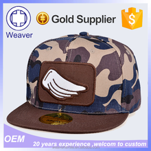 Design Your Own Embroidery Cotton Camo Snapback Cap For Hip Hop Customers