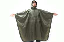 Sole Color Military Green Durable Material Military Poncho