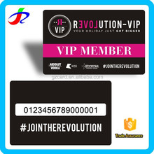 high quality pvc plastic membership cards printing