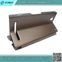 High Quality Fashional Popular PU Leather Flip Case For Sony Xperia S