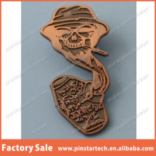 Pinstar Grateful Dead Souvenirs Qibla Direction Hunter Fear & Loathing too weird copper dab lapel pin/badge
